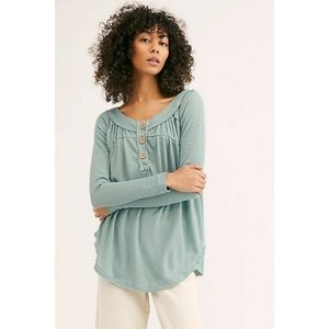 Free People Must Have Henley in Sicilian Blue